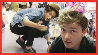 The Vamps Vlog their Crazy Mall Adventures and Stage Antics! - The Vamps Takeover Ep 3