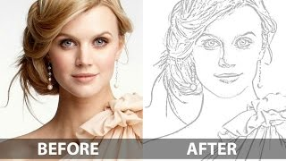 getlinkyoutube.com-How To Create a Pencil Drawing From a Photo In Photoshop - Line Drawing Effect