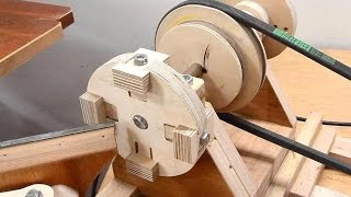 getlinkyoutube.com-Making a 4-jaw lathe chuck
