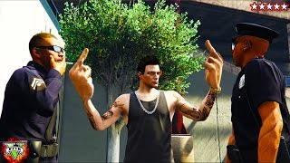 Five Star GTA 5 Survival Mode - Running From The Cops Trying To Survive (GTA 5 Funny Moments)