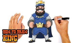 getlinkyoutube.com-How to Draw King (Clash Royale)- Step by Step Art Lesson