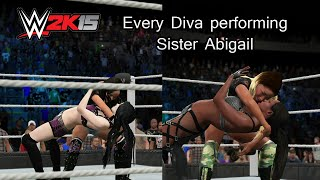 getlinkyoutube.com-WWE 2K15 (PS4) Every Diva performing Sister Abigail