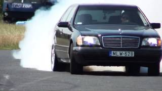 getlinkyoutube.com-Mercedes S 600 V12 Biturbo 0-270km/h acceleration, and burnout || KO 860