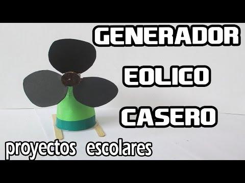 Como Hacer un Mini Generador Eólico Casero│PROYECTOS ESCOLARES