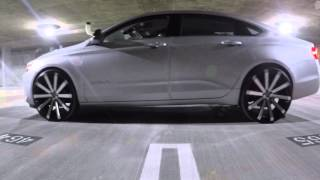 getlinkyoutube.com-2015 Chevy Impala on 24's Velocity VW12 - Cruising the Town