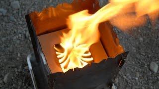 焚き火台+100均材料で木質ペレットを燃やす