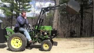 getlinkyoutube.com-Sears Custom with Front End Loader and Rear Weight Box