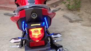 Yamaha Fazer Verson 2.0  150cc 30sep2016 Modified with LED & Angel Eye Projector Lighty