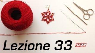 getlinkyoutube.com-Chiacchierino Ad Ago - 33˚ Lezione Orecchino Stella Come Fare Bijoux Tutorial Needle Tatting