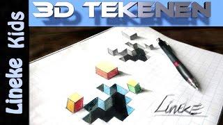 Hoe teken je een gat in je papier / 3D tekenen / # 24
