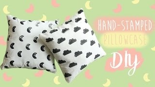 DIY BANTAL LUCU | DIY Stamped Pillowcase