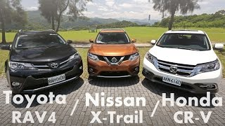 getlinkyoutube.com-各有千秋 Toyota RAV4  vs Nissan X-Trail vs Honda CR-V | SUV集評