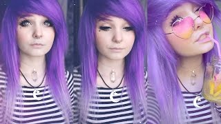 Dying my hair purple :3