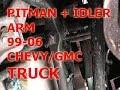How to Change Pitman Arm + idler arm 99-06 Sierra Silverado Chevy  GMC