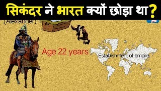 Ancient history : Why Alexander the Great decide to turn back after he conquered Northern India? width=
