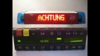 Hella RTK6 LED Feuerwehr ELW Balken mit eigenen Matix Texten  (Sprachcodierung 4)