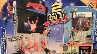 getlinkyoutube.com-WWE ACTION INSIDER: Ultimate ENTRANCE Stage MATTEL Wrestling Figure Playset REVIEW