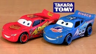 getlinkyoutube.com-Tomica Talking Lightning McQueen CARS 2 Dinoco Rust-Eze Takara Tomy Car-Toys Pixar Disney カーズ2