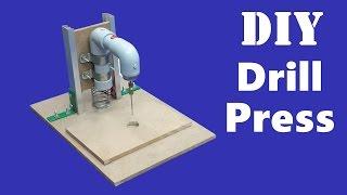 getlinkyoutube.com-How to Make a Mini Bench Drill Press - DIY