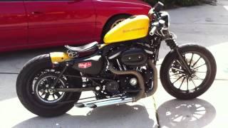 getlinkyoutube.com-Iron 883 bobber chrome yellow
