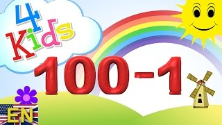 getlinkyoutube.com-Numbers counting 100-1 (Reverse) Learning Video for children and toddlers (english)