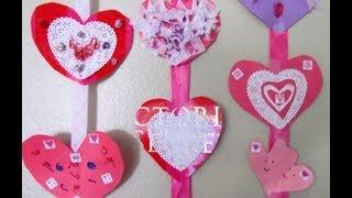 ประดิษฐ์โมบายและการ์ดรูปหัวใจ ต้อนรับเทศกาลวาเลนไทน์