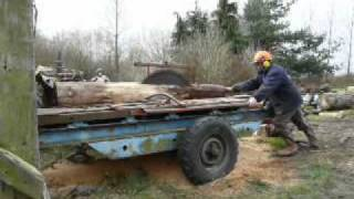 getlinkyoutube.com-Sawmilling home grown timber