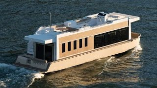 getlinkyoutube.com-49' Crossover Houseboat: an Evolution in Yachting