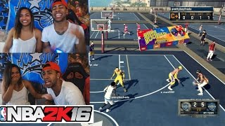 getlinkyoutube.com-Girlfriend Vs Boyfriend Bean Boozled MyPark Challenge!! We both puked !! (Must Watch)  NBA 2K16