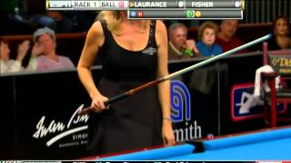 getlinkyoutube.com-03/18/12 WPBA Masters - Final rack 1 Allison Fisher vs Ewa Mataya Laurance Billiard HD