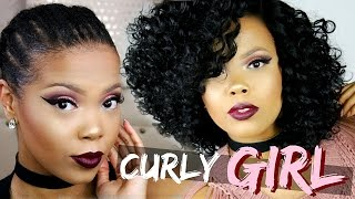 getlinkyoutube.com-YASS! SEXY CURLY HAIR IN 10 MINUTES | SENSATIONNEL EMPRESS 4X4 SWISS LACE WIG - PORSHA | TASTEPINK
