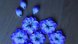 getlinkyoutube.com-DIY Кейн Сиреневый цветочек.Полимерная глина.Cane Lilac fantasy flower. Polymer Clay tutorial.
