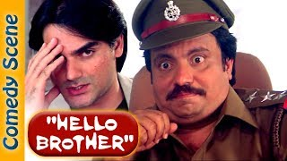 Most Entertaining scenes of Johnny Lever & Kader Khan from 90's Hindi comedy Movie - Dulhe Raja width=