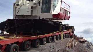 getlinkyoutube.com-lowboy accident crane transporting