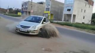 getlinkyoutube.com-HONDA CITY DRIFTS #ye krke dikhao