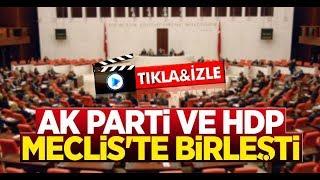 AK Parti ve HDP Meclis'te Birleşti