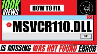 getlinkyoutube.com-✓✓✓ How To Fix msvcr110.dll Missing Error Windows 10/8.1/7