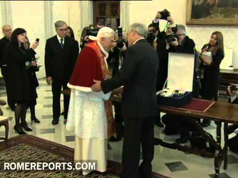 El Papa se rene con el presidente de Chile Sebastin Piera en el Vaticano