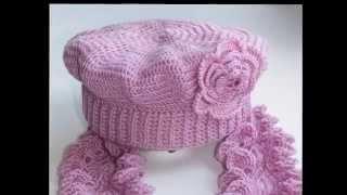 getlinkyoutube.com-Шапки крючком Схемы вязания женских шапок