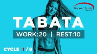 Workout Music Source // TABATA Cycle 1/8 With Vocal Cues (Work: 20 Secs | Rest: 10 Secs)