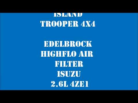 Isuzu 2.6L 4ZE1 - EdelBrock High Flow Air Filter
