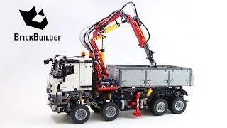 getlinkyoutube.com-Lego Technic 42043 Mercedes-Benz Arocs 3245 - Lego Speed build