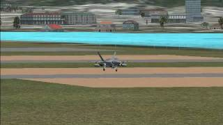 FSX JSF-35 Take-off and landing (Part 2)