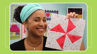 getlinkyoutube.com-How to Make a Turnstile Quilt Block - Crafty Gemini Tutorial