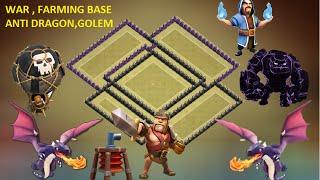 getlinkyoutube.com-Clash of Clans - town hall 8 - th8 trophy base 2015 war base anti Dragon Anti hog 3 star + replay