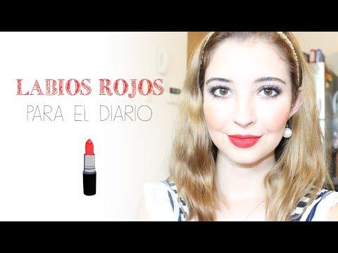 Maquillaje para el diario con labios rojos 💄  [English Subtitles]