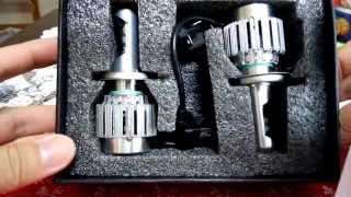 getlinkyoutube.com-CREE LED h4 Headlight ヘッドライト hikari製 3000lm H4