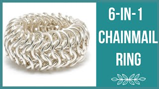 getlinkyoutube.com-6-in-1 Chainmail Ring Tutorial - Beaducation.com