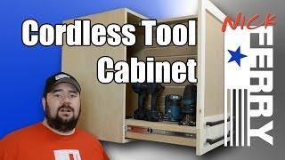 getlinkyoutube.com-Ⓕ How To Make A Cordless Tool Cabinet (ep34)
