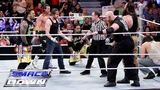 getlinkyoutube.com-Dean Ambrose, The Usos & Dolph Ziggler vs. The Wyatt Family: SmackDown, March 10, 216